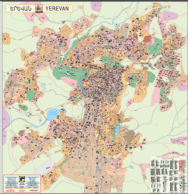 Yerevan Map Pdf Images - yerevan map